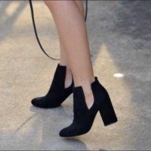 Steve Madden noami black suede winter booties